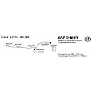 Subaru Outback 04-09 2,0R / 2,5i RST cat-back